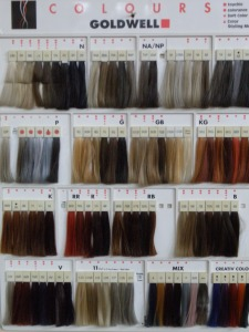 Our Goldwell Colour Swatches.  Which colours would you like?!